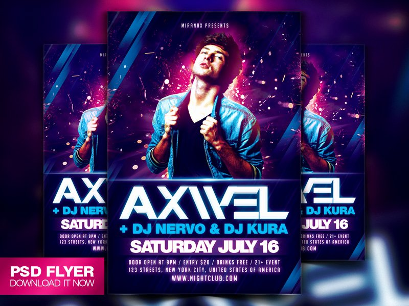 Concert Flyer Template Psd Awesome Concert Poster Template