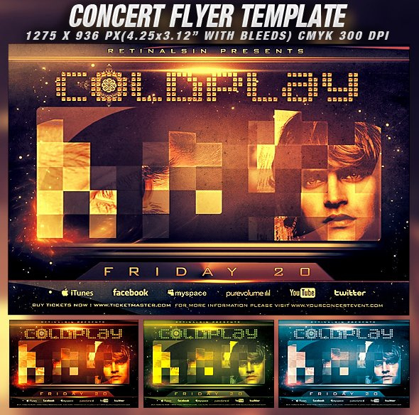 Concert Flyer Template Psd Beautiful Psd Concert Flyer Template V 2 by Retinathemes On Deviantart