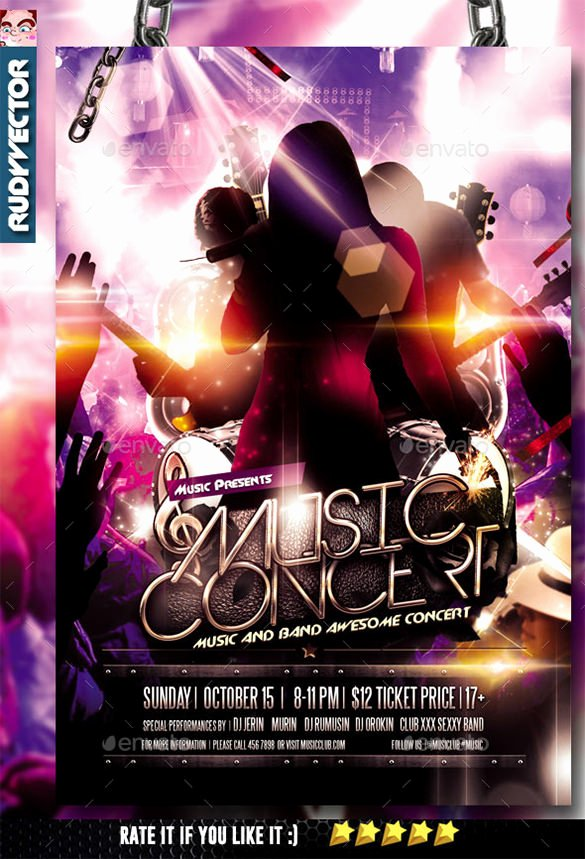 Concert Flyer Template Psd Elegant 11 Psd Band Flyer Templates Psd Ai Publisher Apple