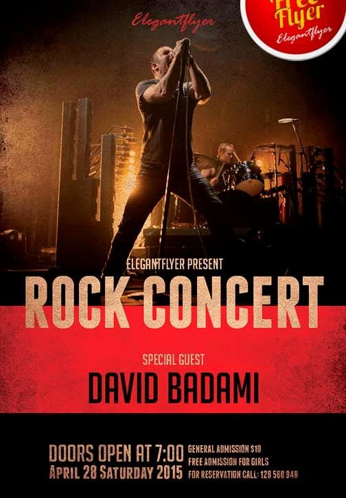 Concert Flyer Template Psd Elegant Rock Concert Free Psd Flyer Template Cover