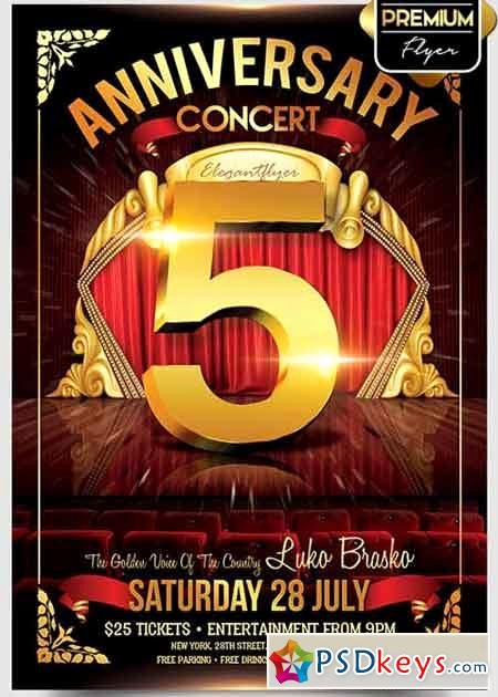 Concert Flyer Template Psd Fresh Anniversary Page 2 Free Download Shop Vector