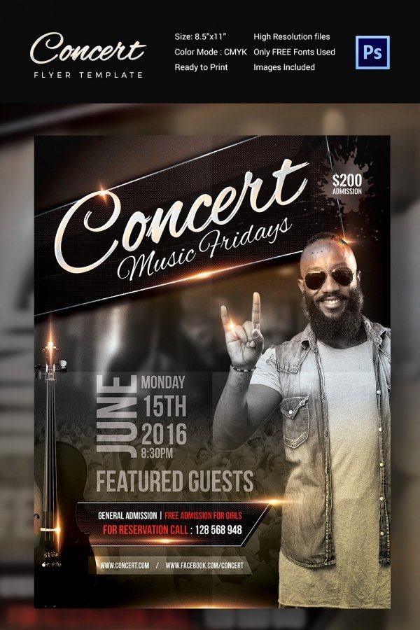 Concert Flyer Template Psd Fresh Concert Flyer Template 35 Psd format Download