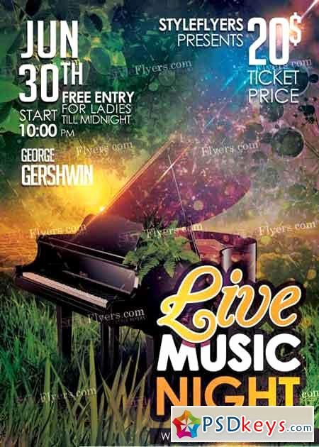 Concert Flyer Template Psd Inspirational Green Concert V5 Psd Flyer Template Free Download
