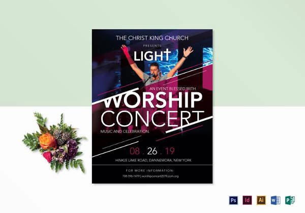 Concert Flyer Template Psd Lovely 33 Church Flyer Templates