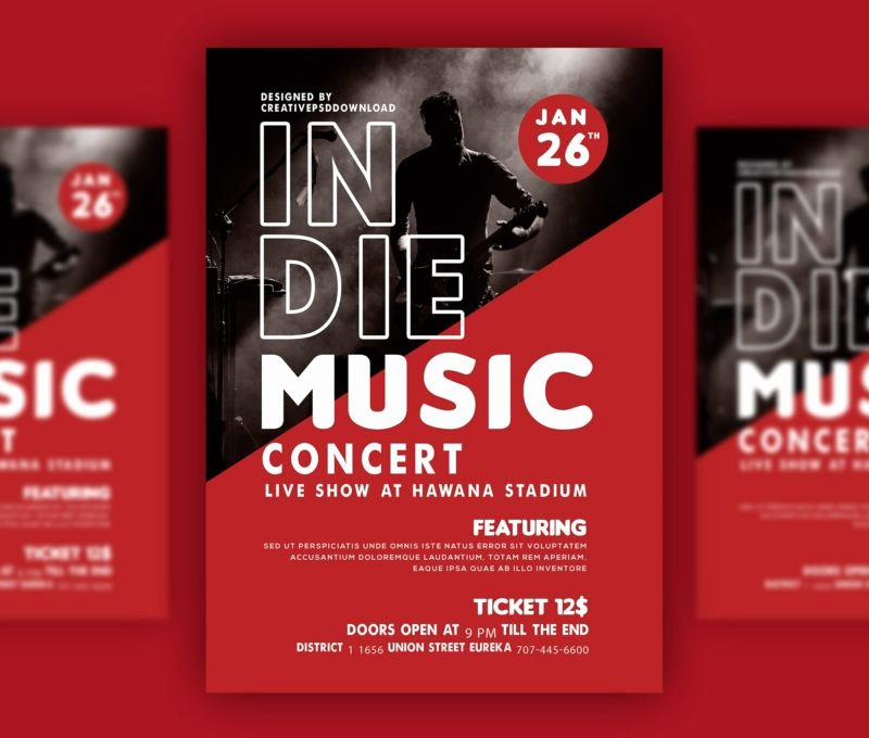 Concert Flyer Template Psd Luxury Music Concert Flyer Psd Bundle Freebie