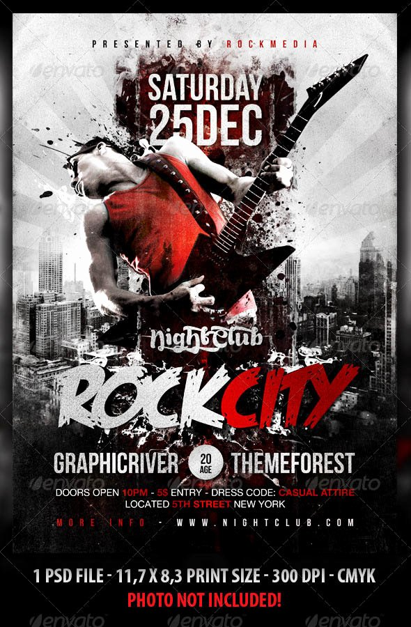 Concert Flyer Template Psd New 19 Cool Concert Poster Psds – Desiznworld