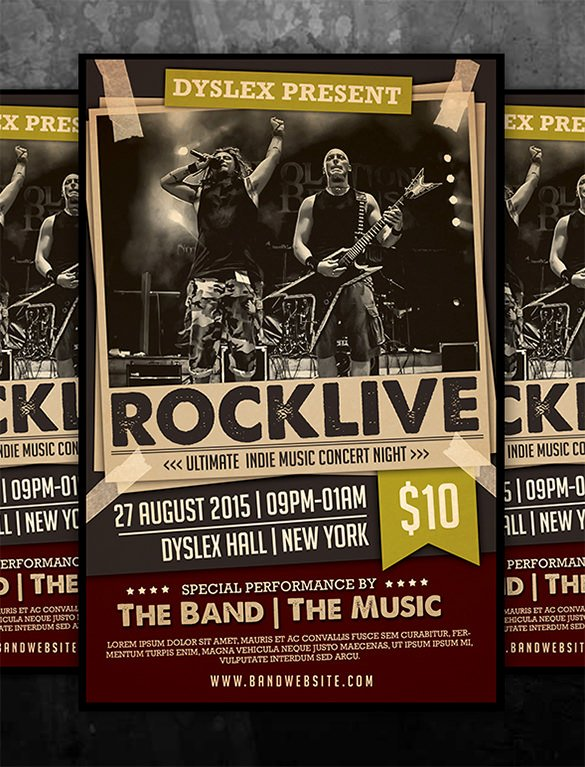 Concert Flyer Template Psd Unique 19 Concert Poster Templates & Designs