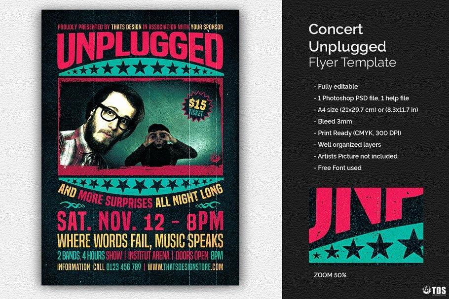 Concert Flyer Template Psd Unique Concert Unplugged Flyer Psd Flyer Templates