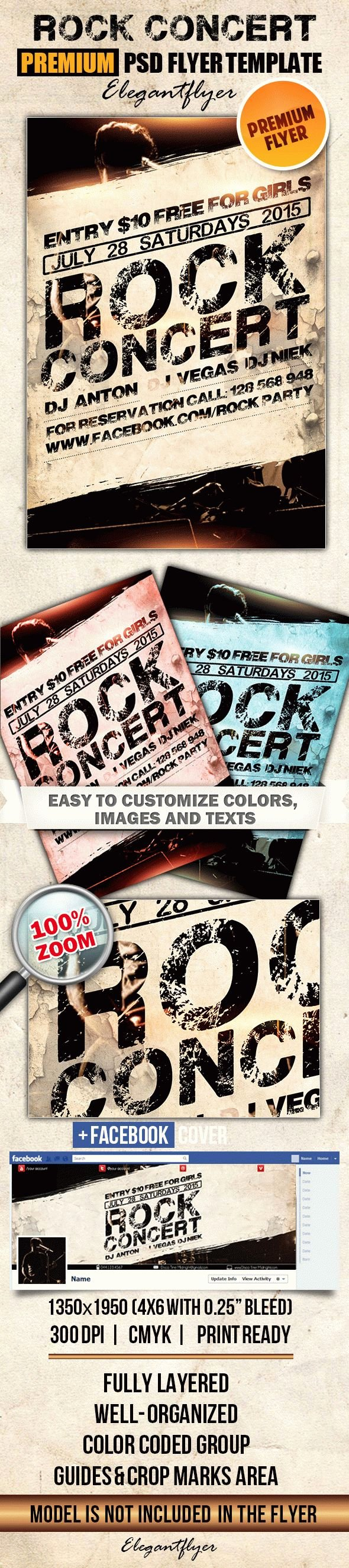Concert Flyer Template Psd Unique Rock Concert Poster Template – by Elegantflyer