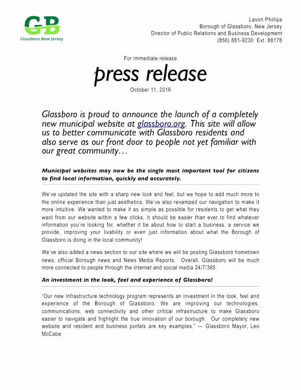 Concert Press Release Template Beautiful New Website Press Release Template Free social Media