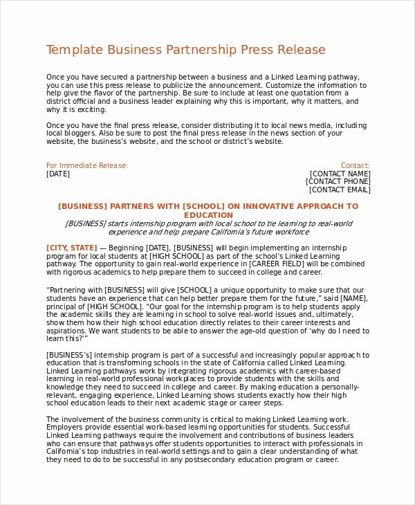 Concert Press Release Template Best Of Press Release Template 20 Free Word Pdf Document