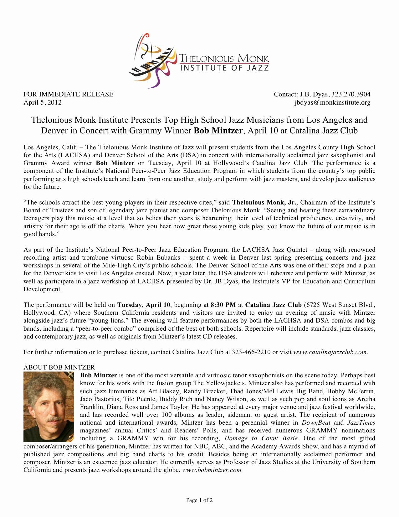 Concert Press Release Template Fresh Press Release Templates Bands Internetexclusive