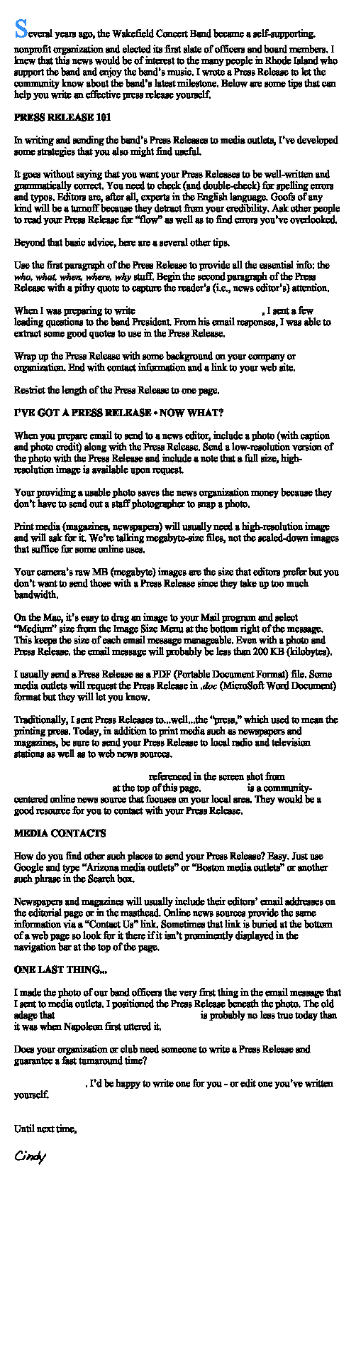 Concert Press Release Template Lovely How to Write A Press Release