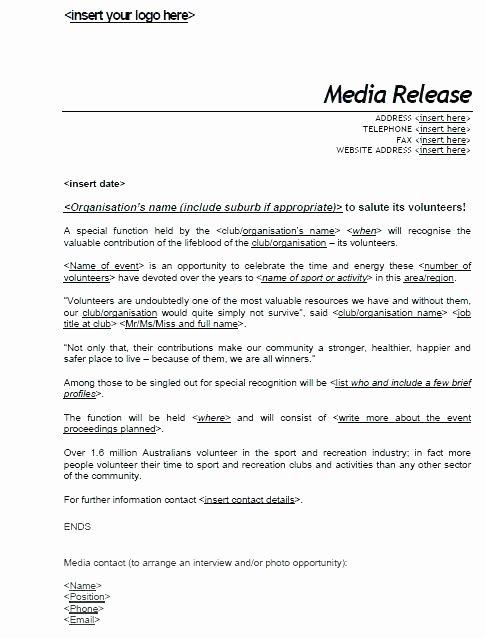 Concert Press Release Template New Concert Press Release Template Press Releases Release