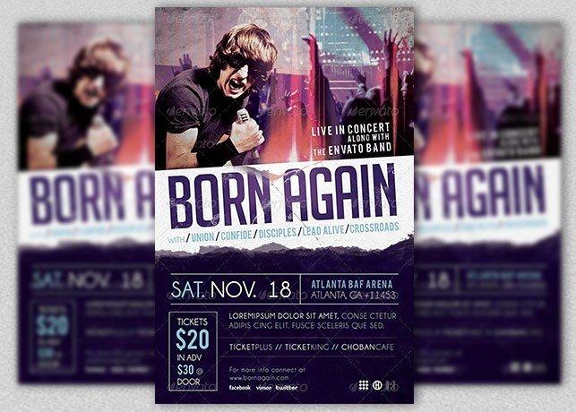 Concert Press Release Template Unique Gospel Rock Band Concert Flyer Template