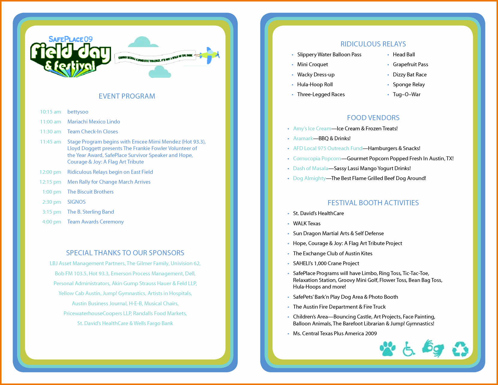 Concert Program Template Free Awesome event Program Template