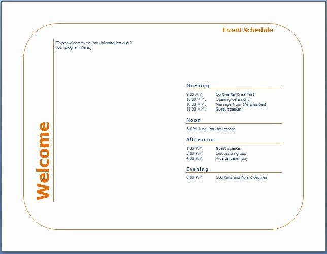 Concert Program Template Free Awesome Generic event Program Template