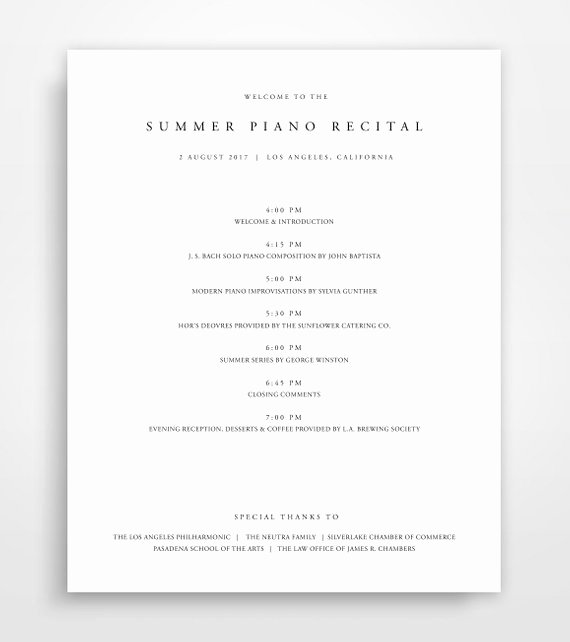 Concert Program Template Free Beautiful event Program Template Program Template event Program event