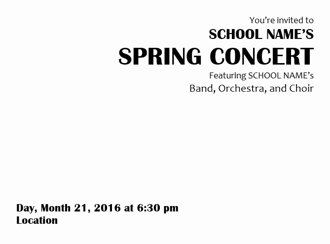 Concert Program Template Free Fresh Teaching Elementary orchestra Template for A Concert