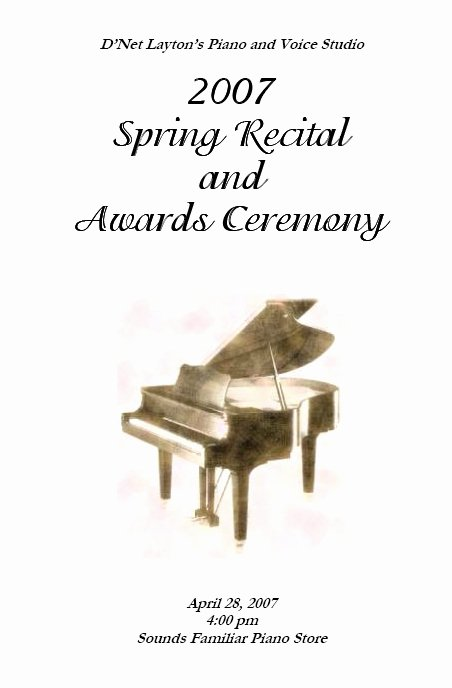 Concert Program Template Free Inspirational Recital Program Templates