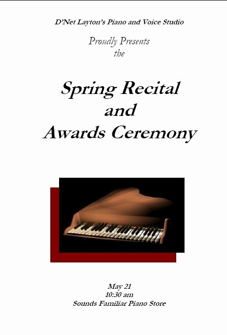 Concert Program Template Free Luxury Recital Program Templates