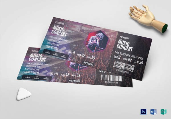 Concert Ticket Template Psd Awesome Ticket Templates – 99 Free Word Excel Pdf Psd Eps