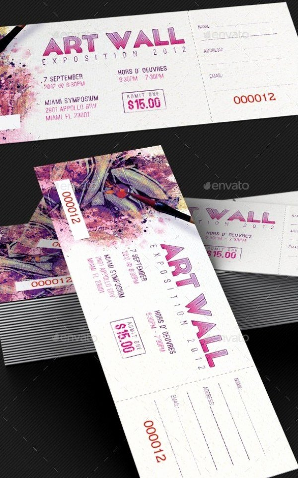 Concert Ticket Template Psd Beautiful 46 Print Ready Ticket Templates Psd for Various Types Of