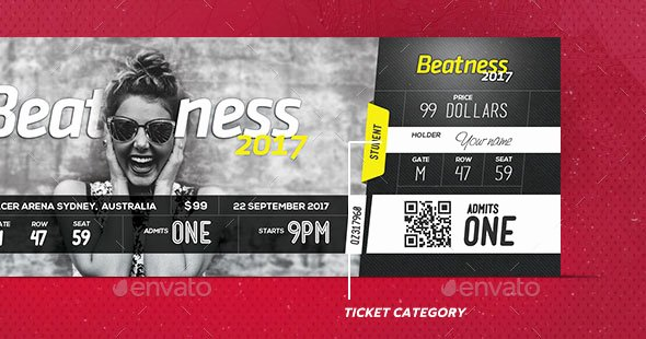 Concert Ticket Template Psd Best Of 25 Awesome Psd Ticket Invitation Design Templates – Web