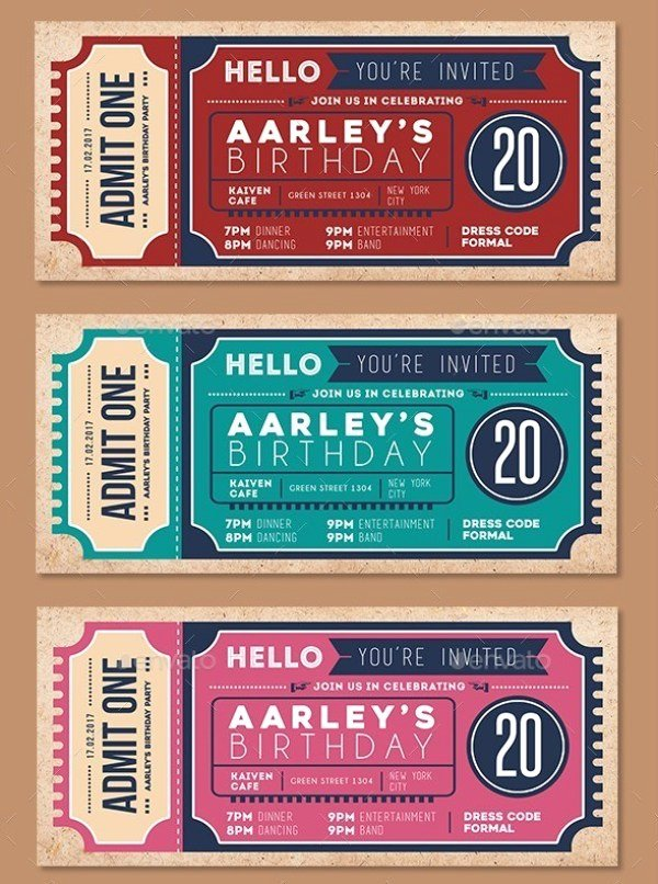 Concert Ticket Template Psd Best Of 55 Print Ready Ticket Templates Psd for Various Types Of