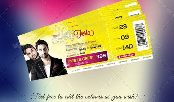 Concert Ticket Template Psd Best Of Free Download event Tickets Template Psd