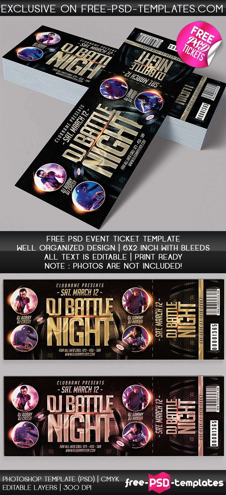 Concert Ticket Template Psd Best Of Free Psd event Tickets
