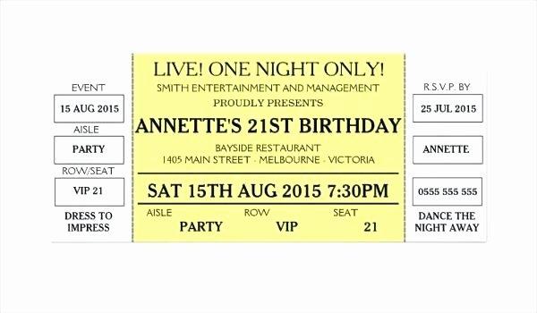 Concert Ticket Template Psd Best Of Rock Concert Tickets Template Vector Ticket Word Free