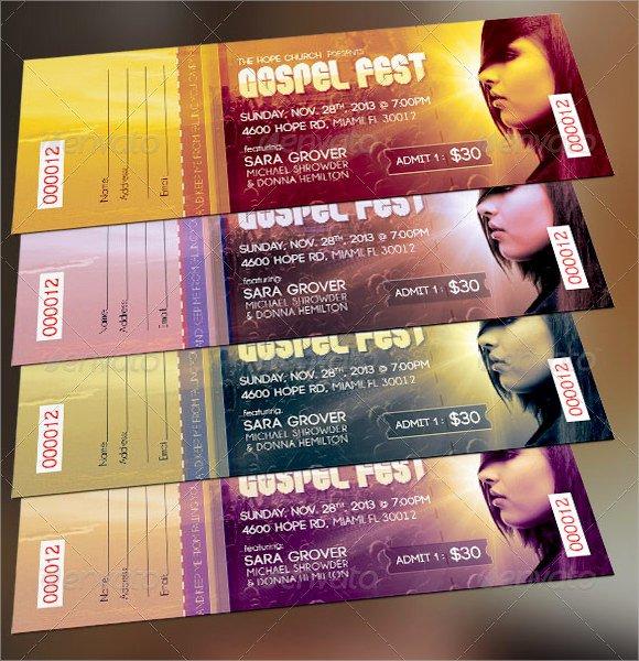 Concert Ticket Template Psd Elegant 21 Sample Concert Ticket Templates