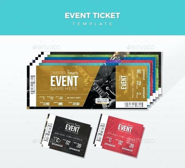 Concert Ticket Template Psd Elegant Rock Concert Tickets Template Vector Ticket Word Free