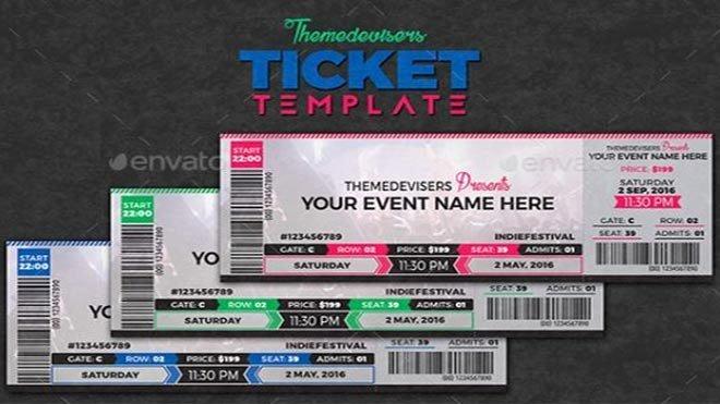 Concert Ticket Template Psd Fresh Concert Ticket Template