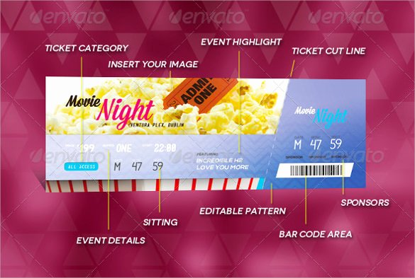 Concert Ticket Template Psd Fresh Ticket Template 23 Download Documents In Pdf Psd