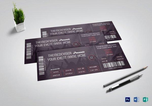 Concert Ticket Template Psd Inspirational 34 Printable event Ticket Templates & Mockups Psd Ai