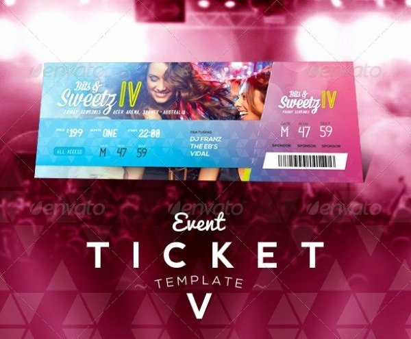 Concert Ticket Template Psd Inspirational 46 Print Ready Ticket Templates Psd for Various Types Of