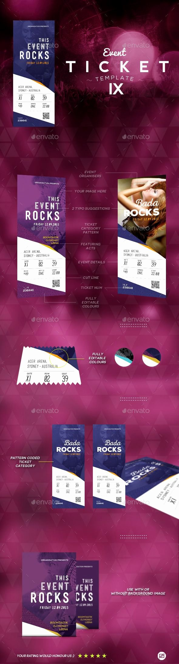 Concert Ticket Template Psd Lovely 25 Best Ideas About event Ticket Template On Pinterest