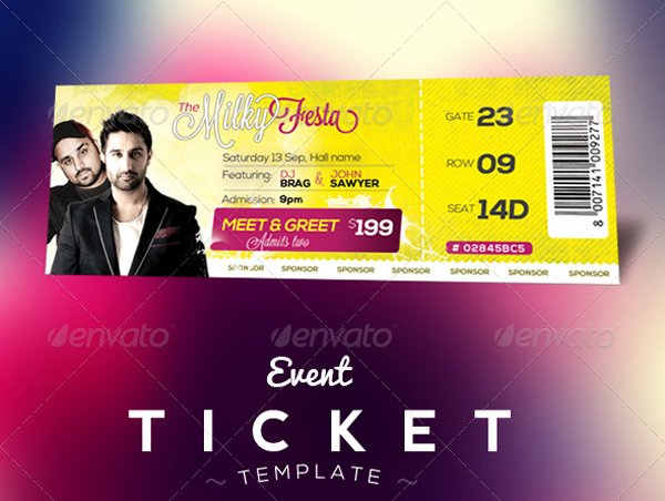 Concert Ticket Template Psd Lovely Free Download event Tickets Template Psd