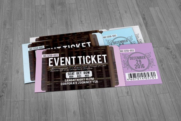 Concert Ticket Template Psd Luxury 46 Print Ready Ticket Templates Psd for Various Types Of
