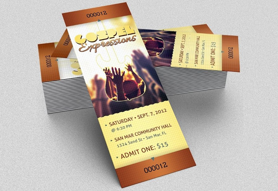 Concert Ticket Template Psd New 21 event Ticket Mockups