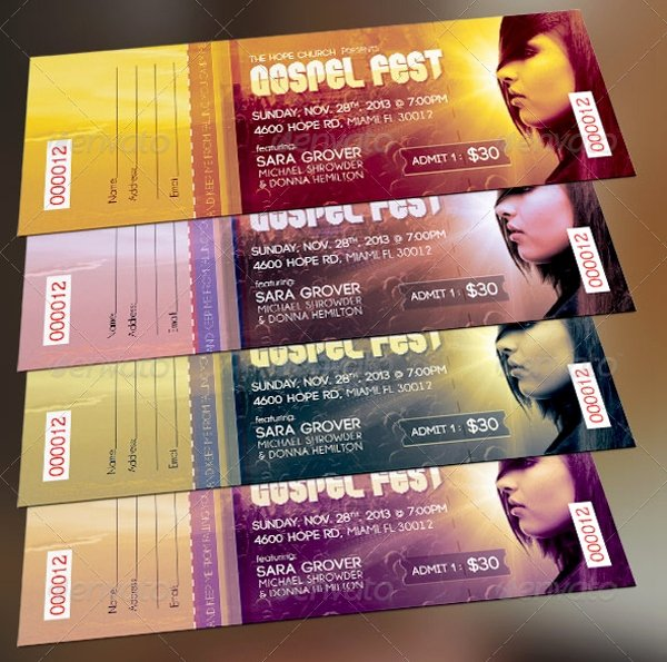 Concert Ticket Template Psd New 26 Ticket Templates Psd Ai Word