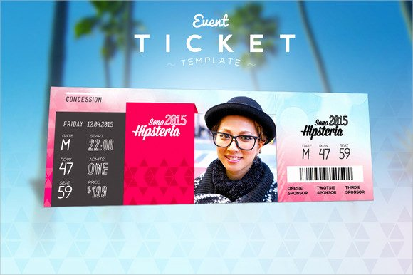 Concert Ticket Template Psd New event Ticket Template 7 Premium and Free Download for