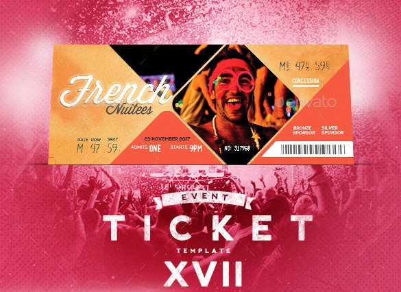 Concert Ticket Template Psd Unique 115 Ticket Templates Word Excel Pdf Psd Eps