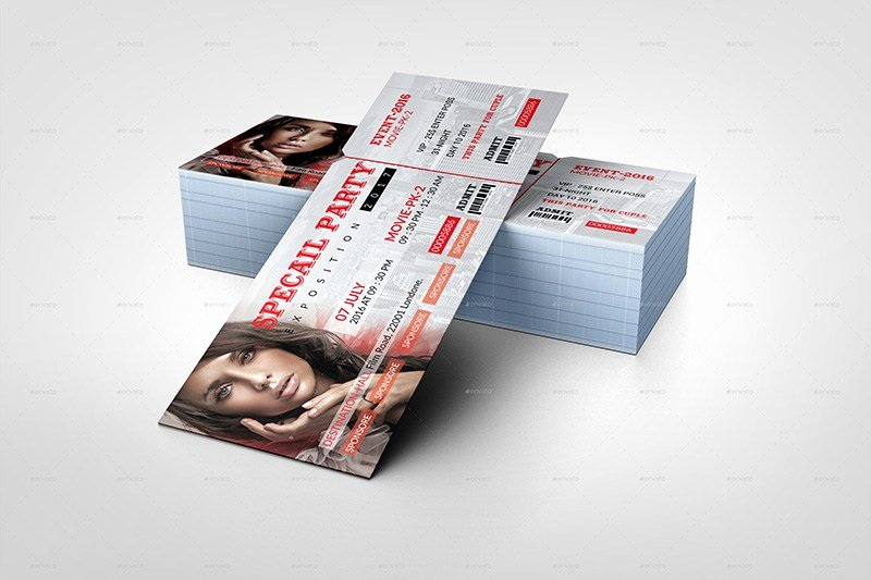 18 event ticket templates psd