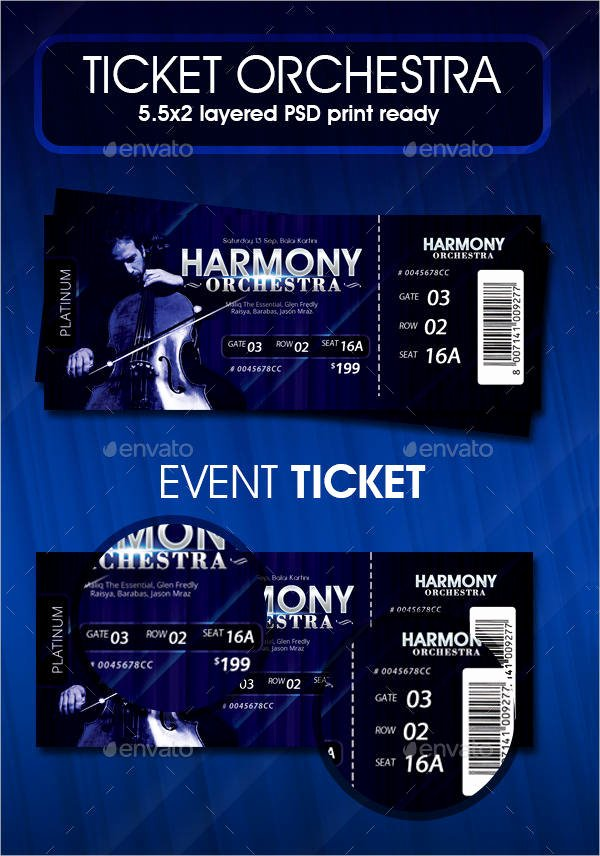 Concert Ticket Template Psd Unique 23 Printable Ticket Templates Psd Word Ai