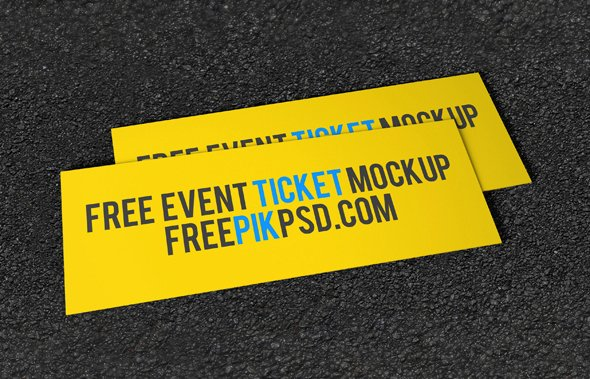 Concert Ticket Template Psd Unique Free Concert event Tickets Mockup Psd On Behance