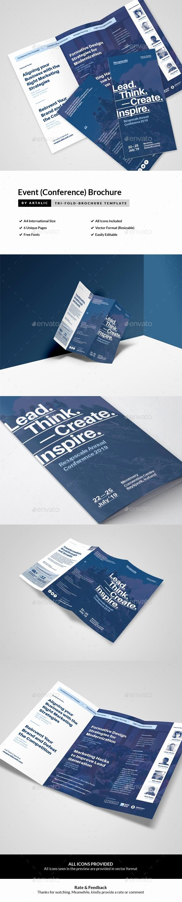 Conference Program Booklet Template Awesome Best 25 Leaflet Template Ideas On Pinterest