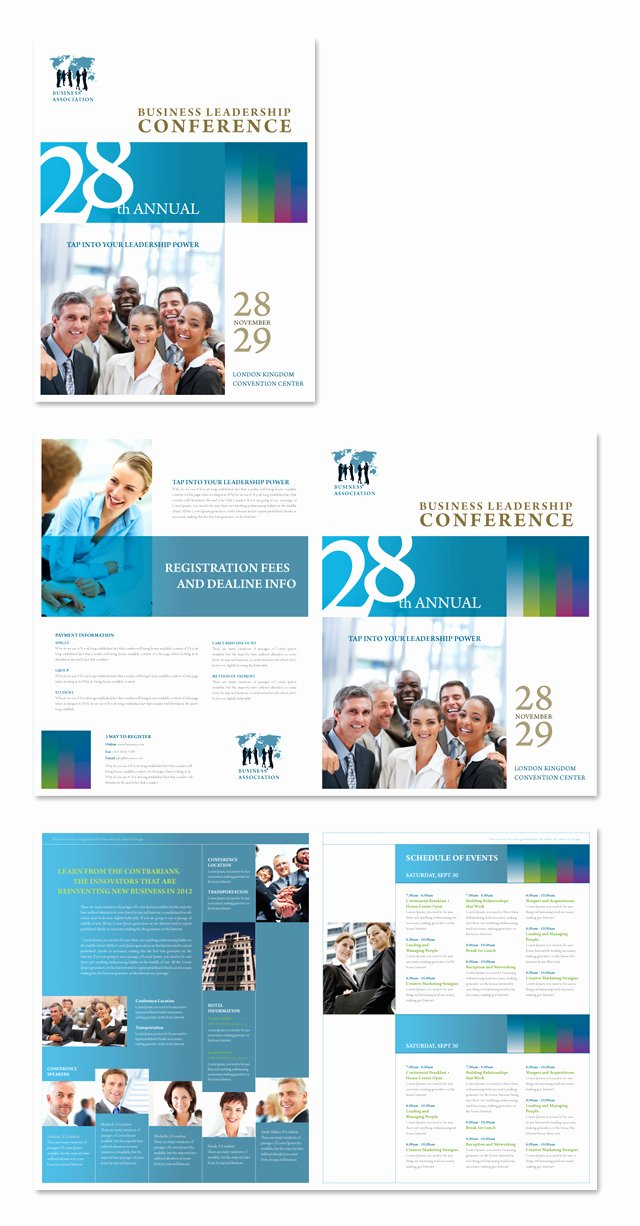 Conference Program Booklet Template Best Of Business Leadership Conference Brochure Template